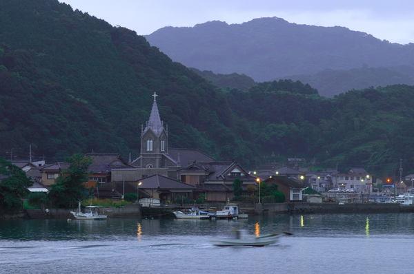 世界遺産の崎津天主堂です